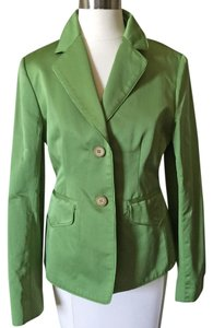 Anne Klein Suit Cotton Bloomingdales Jacket Green Blazer