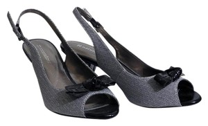 Naturalizer Fabirc Grey Herringbone Pumps