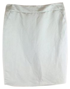 Armani Collezioni Pencil Linen Silk Skirt Blue