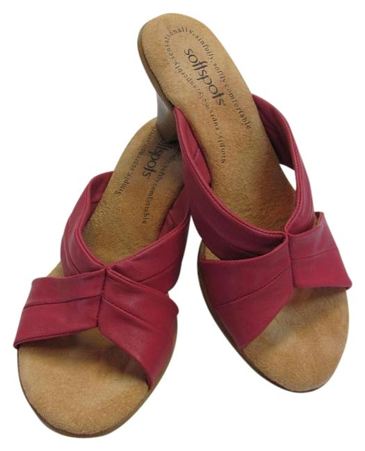 Item - Pink Neutral Leather M Very Good Condition Wedges Size US 8 Regular (M, B)