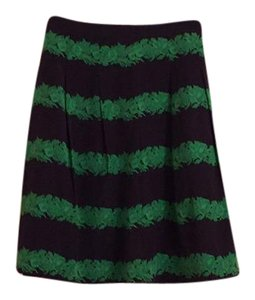 J.Crew Mini Skirt Navy with green