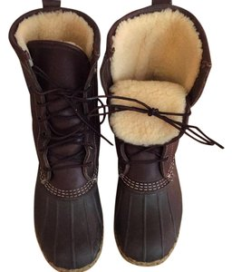 L.L.Bean Black/ brown Boots