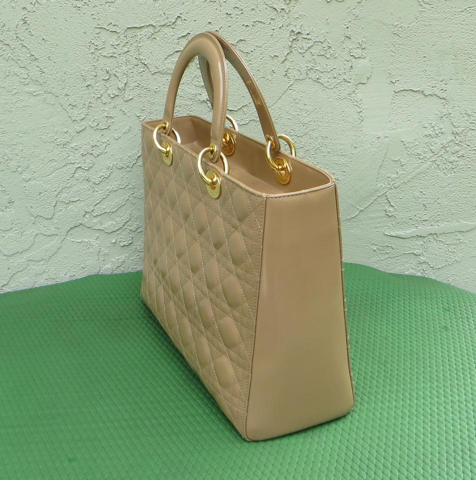 0a62bb75fd51 Tote Patent Large Leather Purse Dior Dior Lady Beige fqgn0Sw   easy ...