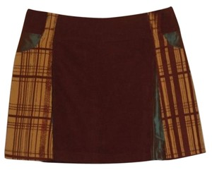 Custo Barcelona Corduroy Mini Mini Skirt Brown