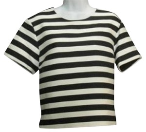 Kate Spade Top Black/white stripes
