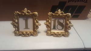 Kate Aspen Gold Frame Table Numbers Centerpiece
