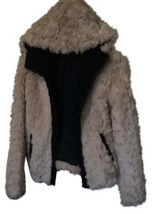 Zara Faux Fur Zipper Soft Winter Fur Coat