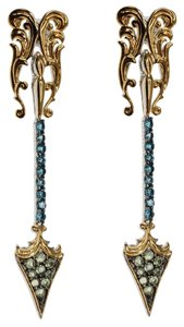 Dallas Prince Dallas Prince Gemstone Fancy Louvered Arrow Dangle Earring DSEE5195