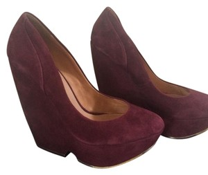 L.A.M.B. Burgundy Wedges