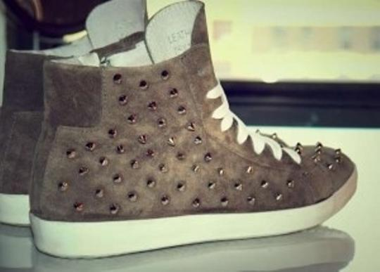 Steve Madden Twynkle Spiked Spike Sneakers Grey Athletic