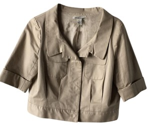 Kenneth Cole Cropped Buttoned Khaki Jacket