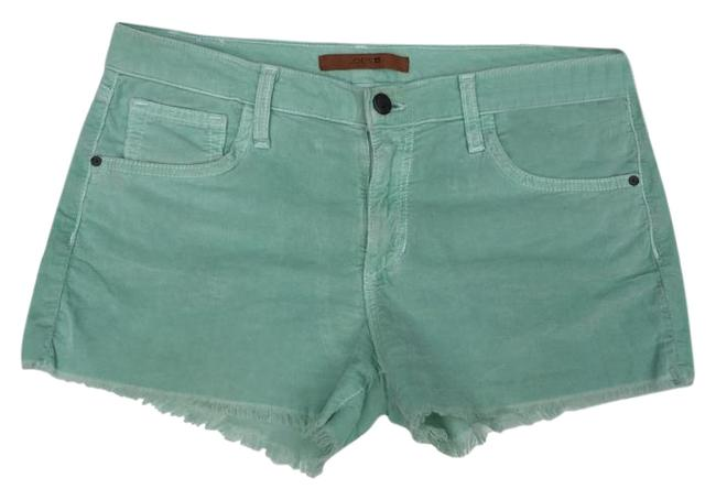 JOE'S Jeans Corduroy Menthol Cut Off Shorts Light Green Image 1