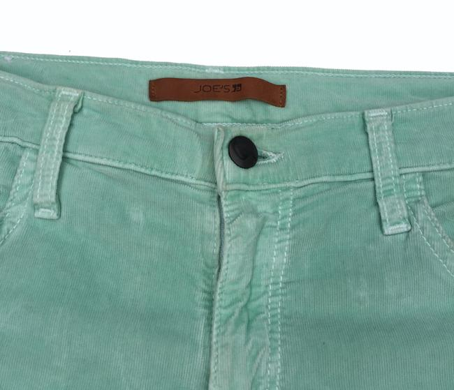 JOE'S Jeans Corduroy Menthol Cut Off Shorts Light Green Image 2