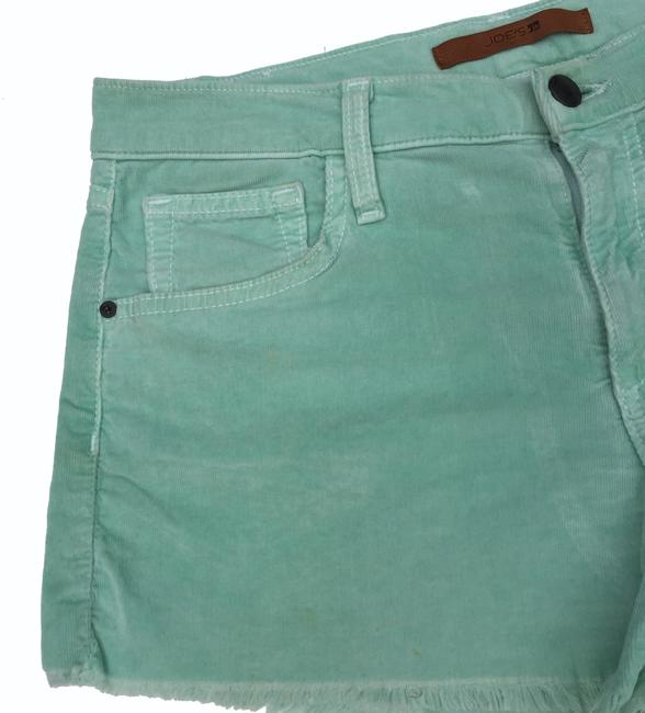 JOE'S Jeans Corduroy Menthol Cut Off Shorts Light Green Image 3