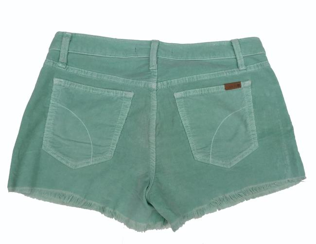 JOE'S Jeans Corduroy Menthol Cut Off Shorts Light Green Image 4
