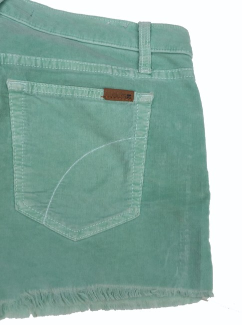 JOE'S Jeans Corduroy Menthol Cut Off Shorts Light Green Image 5