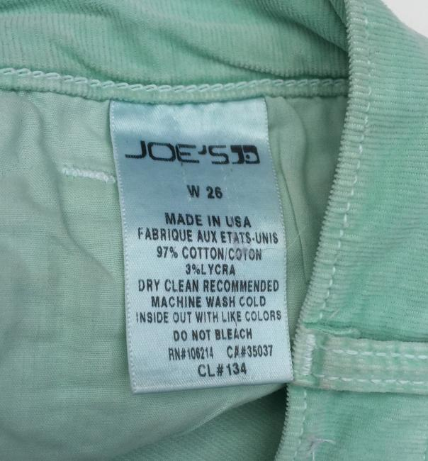 JOE'S Jeans Corduroy Menthol Cut Off Shorts Light Green Image 6
