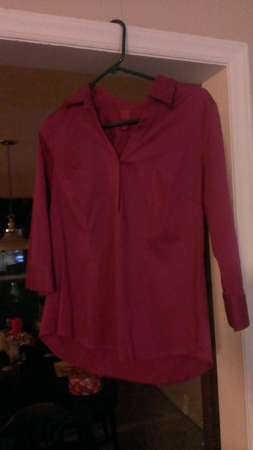 212 Collection Button Down Shirt Berry Pink