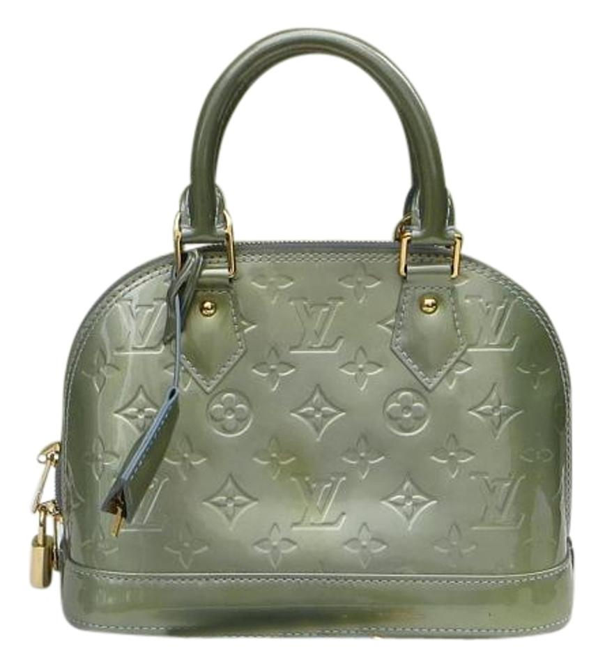 Louis Vuitton Alma Bb In Monogram Vernis Metalic Green Patent Leather Cross  Body Bag 6f7090e751299