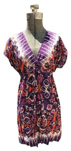 Xhilaration short dress Purple, Black, Orange, Cream on Tradesy
