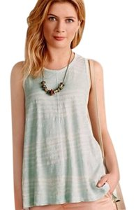 Anthropologie Swingy Soft Cotton Top Mint Green