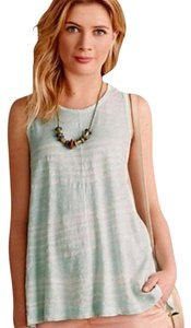Anthropologie Swingy Soft Cotton Left Of Center Sleeveless Top NWT Mint Green
