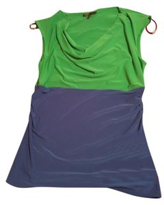 Chaus Top green & blue