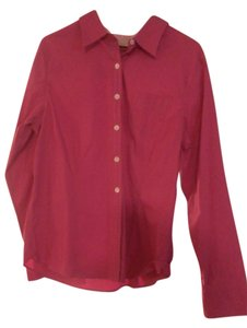 L.L. Bean Button Down Shirt berry