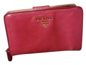 Prada Prada Hot Pink Wallet with All Paperwork and Original Prada Box