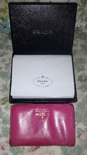 Prada Prada Hot Pink Wallet with All Paperwork and Original Prada Box Image 1