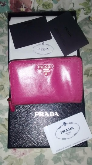Prada Prada Hot Pink Wallet with All Paperwork and Original Prada Box Image 3