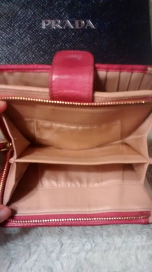 Prada Prada Hot Pink Wallet with All Paperwork and Original Prada Box Image 5
