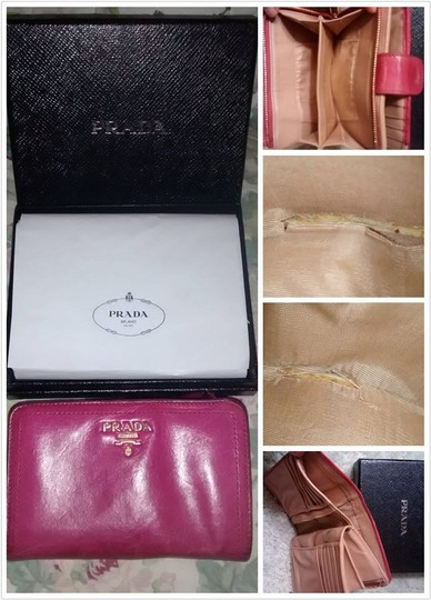 Prada Prada Hot Pink Wallet with All Paperwork and Original Prada Box Image 6
