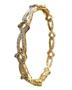 Khanna 2.00 ctw diamond, 14k gold 18.80 gram bangle/bracelet (Unused)