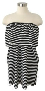 Trafaluc short dress Black & White Striped on Tradesy