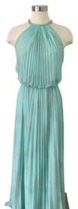 Xscape Flowy Formal Maxi Pleated Long Grecian Style Dress