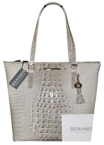 Brahmin Asher Leather Tote in Paloma Gray