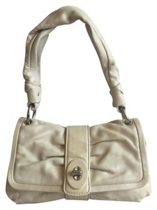 Coach Casual Neutral Leather Silver Hardware Shoulder Bag