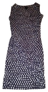 Ann Taylor short dress purple, white, and gray on Tradesy