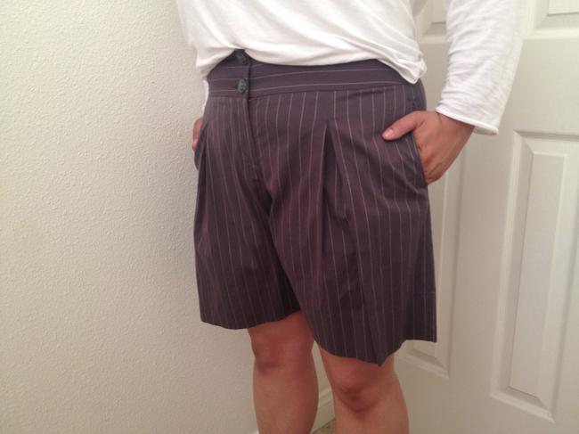 CAbi Cute Semiformal Pinstripe White Trousers Casual Suit Dress Shorts Grey