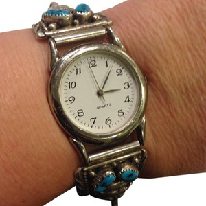 Other Native American Silver & Turquoise Watch