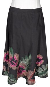 Allison Taylor Embroidered Skirt Brown