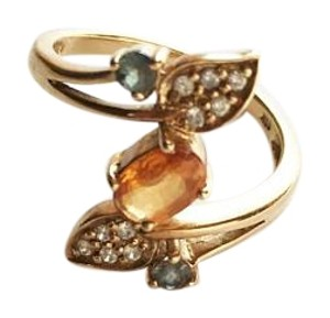 Merry Mode 10k gold Cirtine, Alexandrite, Diamond accent ring, 5.5