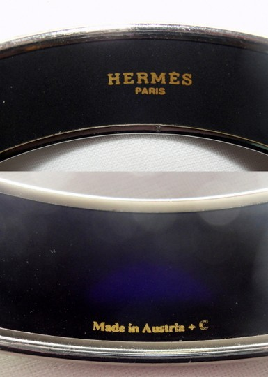 Hermès Authentic Hermes Paris Wide Enamel Bracelet Earrings