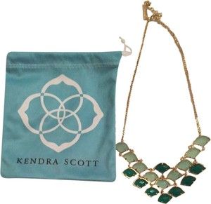 Kendra Scott Chalcedony/Green Statement Necklace