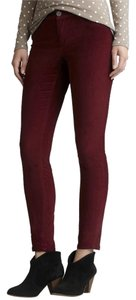 BB Dakota Vintage Retro Modcloth Skinny Pants Red