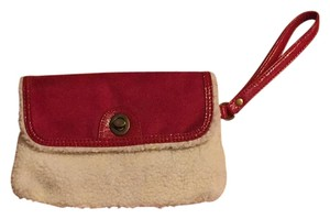 Bath and Body Works Suede Wristlet in Red/white