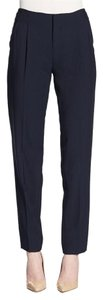 Vince Wool Suit Work Business Causal Relaxed Pants Black