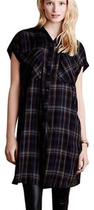Anthropologie short dress blue plaid Anthro on Tradesy