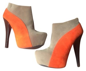 Charlotte Russe Brown orange taupe Boots